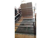 Metal double bed frame silver finish