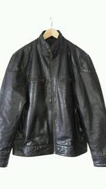 Men's biker style leather jacket 42""