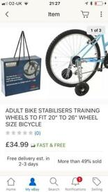 Bike stabilisers- adult/special needs