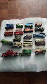 Various toy cars