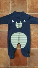 Newborn fleece bear suit