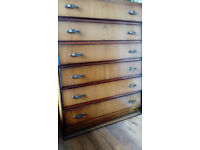vintage solid chest of drawers