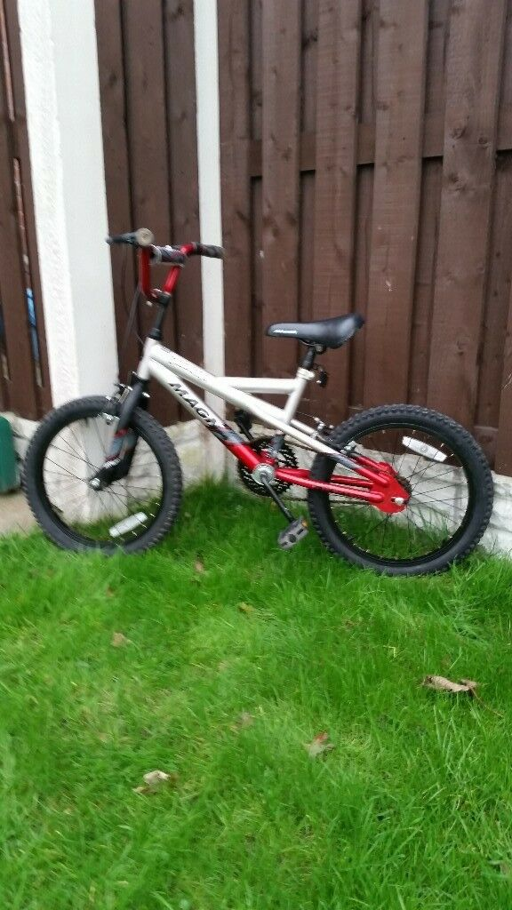 """Boys 18"""" Magna bike can deliver for a small charge"""