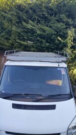 Ford Transit MK 7 full size roof rack galvanised 11ft x 5ft with aerofoil & roller