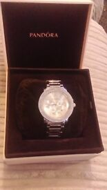 mens stainless steel pandora watch boxed and gift bag new ready for valentines