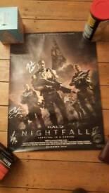 Signed halo nightfall poster