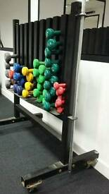 Dumbbell set and Rack