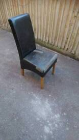 4 solid chairs suitable for refurbishment