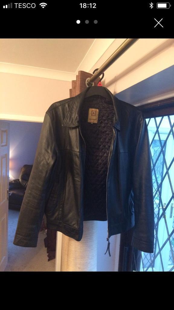 Men's Leather Jacket by Aviatrix
