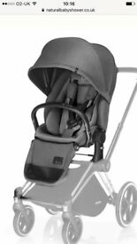 Cybex pram seat unit - brand new - missing parts