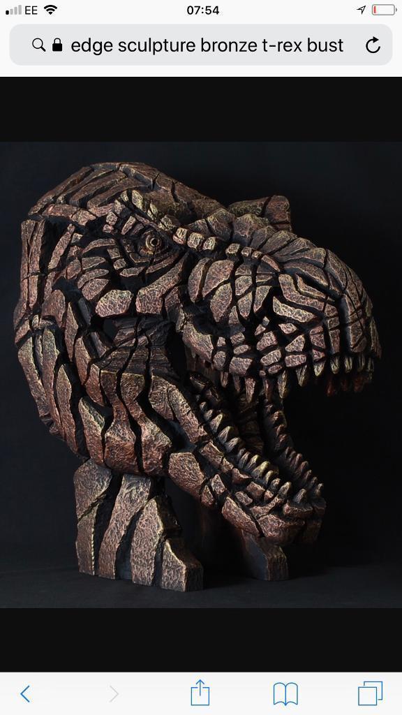 Edge Sculpture Bronze T-Rex Bust