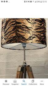 Faux fur tiger print lampshade