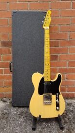 Squier Classic Vibe 50s Telecaster by Fender with vintage style hard case