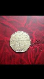 50p coin Battle of Britain -2015.
