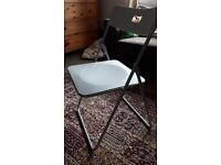 Fold down grey office chair £5