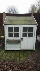 Childrens Wooden Playhouse Wendy House Toy