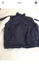Navy blue very warm men jacket coat