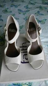 Faith leather shoes size 3 New with stickers and box