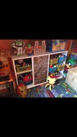 Marvel heroes shelves, storage unit, perfect for toys/books etc. Upcycled!