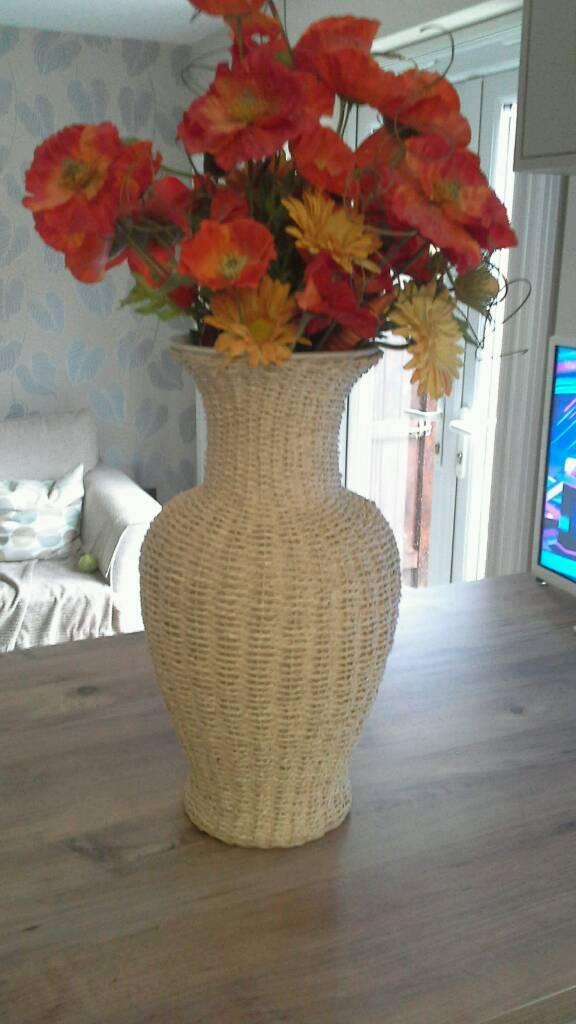 Large Wicker Vase Flowers In Nuneaton Warwickshire Gumtree