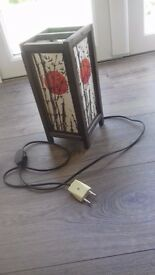 Small freestanding lamps - with 2 prong French electric plug