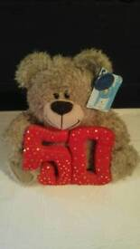 50th birthday bear