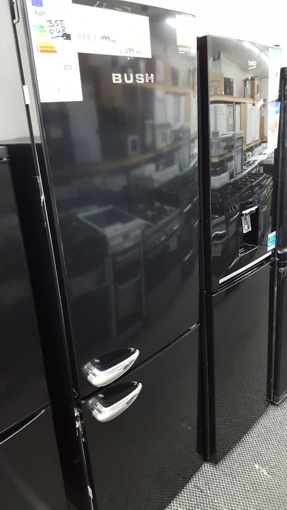 New graded Bush 60cm frost free retro style fridge freezer with 12 months guarantee