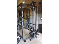 Bodymax CF475 Heavy Power Rack with Lat/Low Pulley + Bodymax adjustable bench