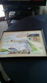 1950s water colour