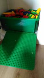 Large bulk load of Duplo building bricks