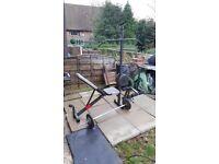 Weight bench multigym steel weights