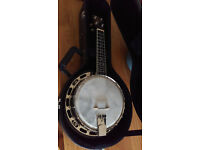 Gold Tone Banjo Ukulele. As New, Upgraded
