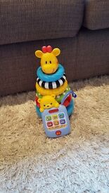 early learning centre sonsory stacking rings and vtech baby musical tunes