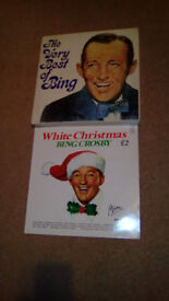 "BING CROSBY ""WHITE CHRISTMAS""-12.INCH VINYL LP,PLUS BOX SET,OF TAPED CASSETTES-EX"