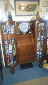 WRITING DESK AND DISPLAY/BOOKCASES