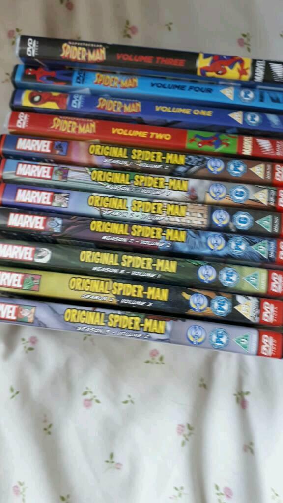 Spiderman dvds