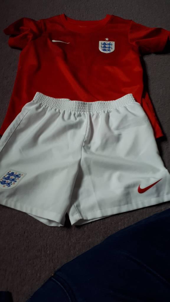 Child's England football kit