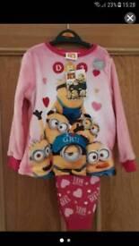 Despicable me Pyjamas pjs,girls pink