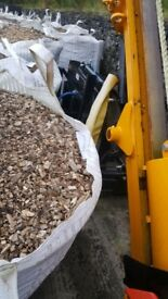 Small bags of wood chips
