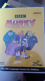 Muzzy French, teach your child to speak french, watch the DVD and read the book