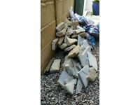 Cotswold stone and slate pieces