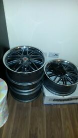 "Alloy wheels 17"" multifit five with tyres"