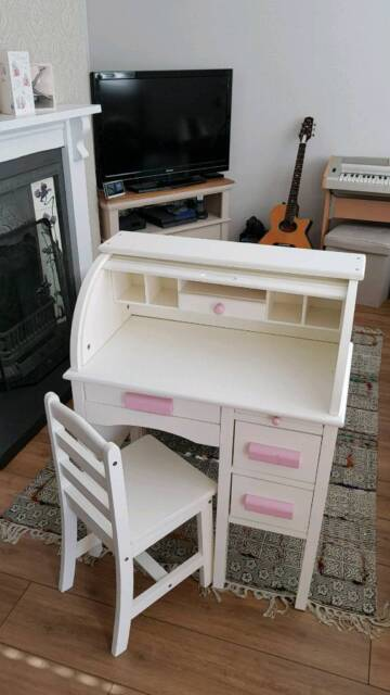 premium selection ae9c0 6ba31 Girls white desk and chair | in Burbage, Leicestershire | Gumtree