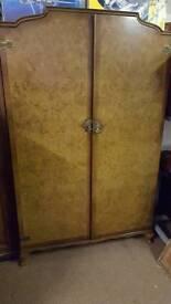 Stunning antique walnut wardrobe