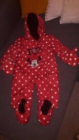 Minnie mouse snowsuit - 9-12 months. Immaculate condition!