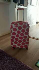 Genuine Radley spot on suitcase and weekend bag