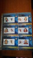 NHL Stamp Cards - All-Stars 2000, 2001, 2002