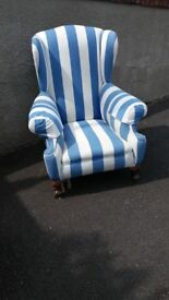 Traditional High Wingback Armchair