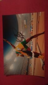 Signed Usain Bolt picture