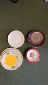 Assorted bowls and plates